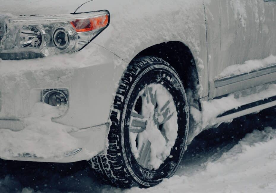vehicle covered with snow